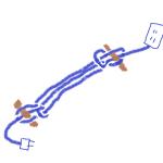 電気コードを短くまとめる結び方